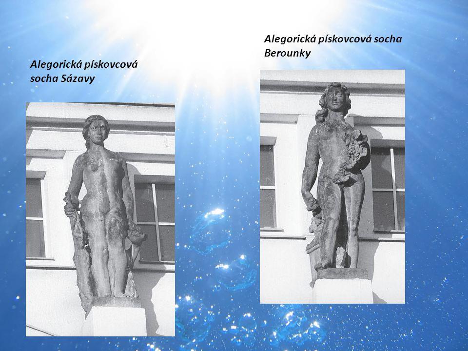 Alegorická pískovcová socha Berounky