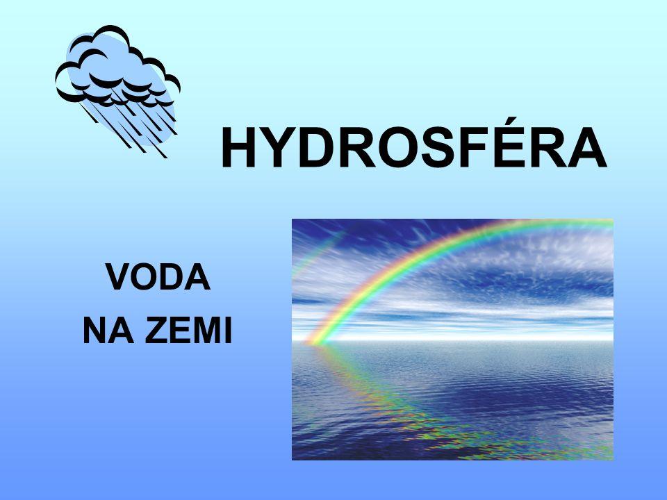 HYDROSFÉRA VODA NA ZEMI