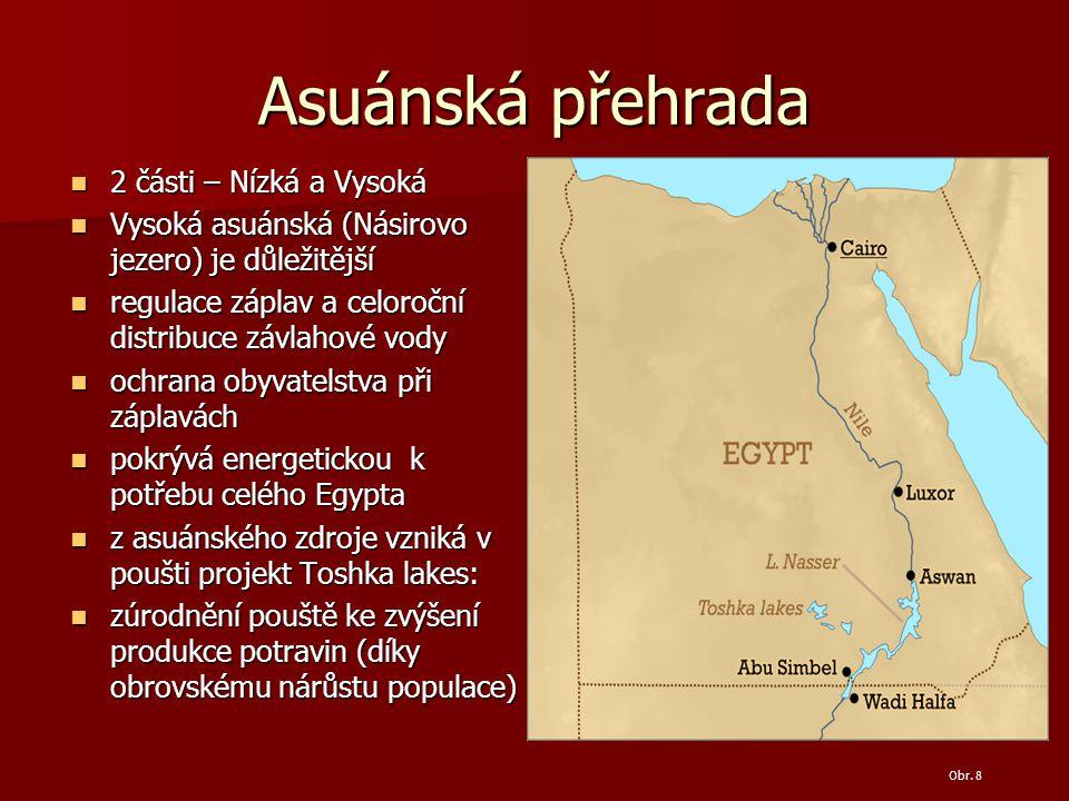 Asuánská přehrada 2 části – Nízká a Vysoká