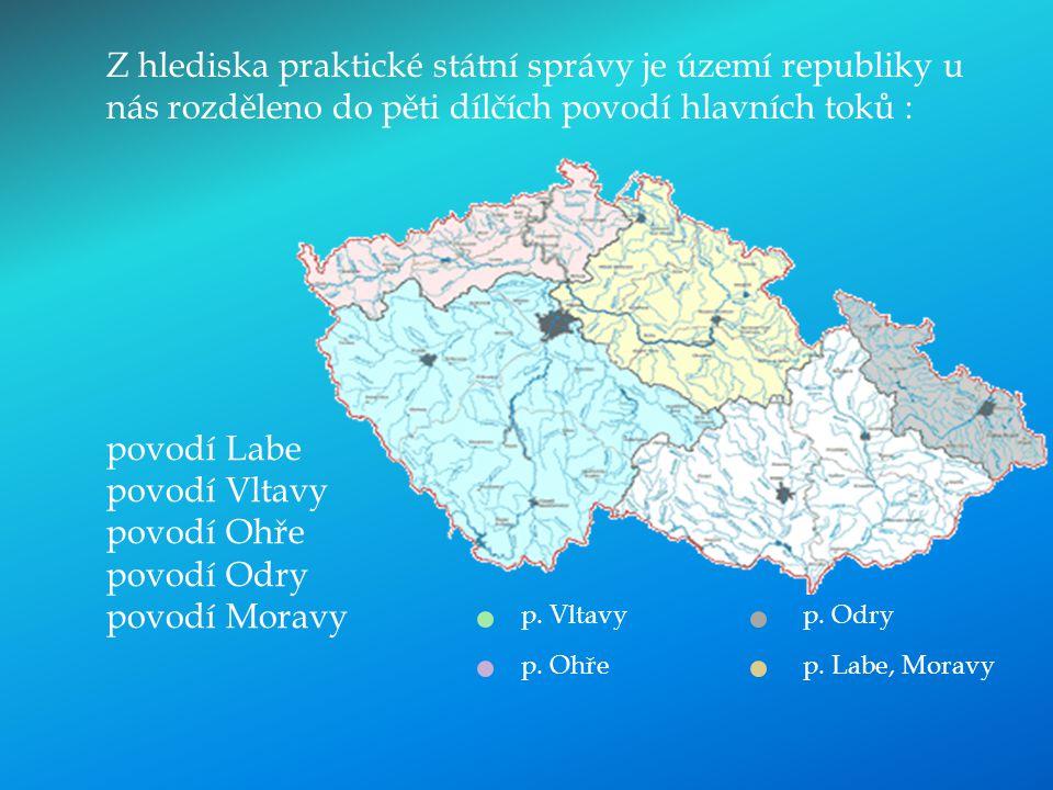 povodí Labe povodí Vltavy povodí Ohře povodí Odry povodí Moravy
