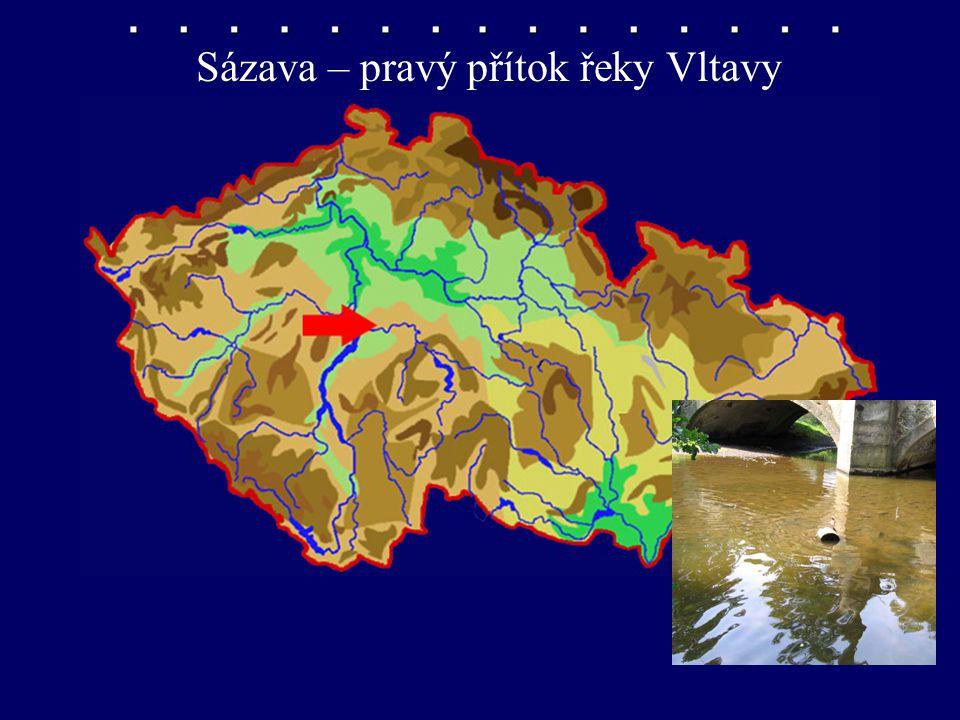 Sázava – pravý přítok řeky Vltavy