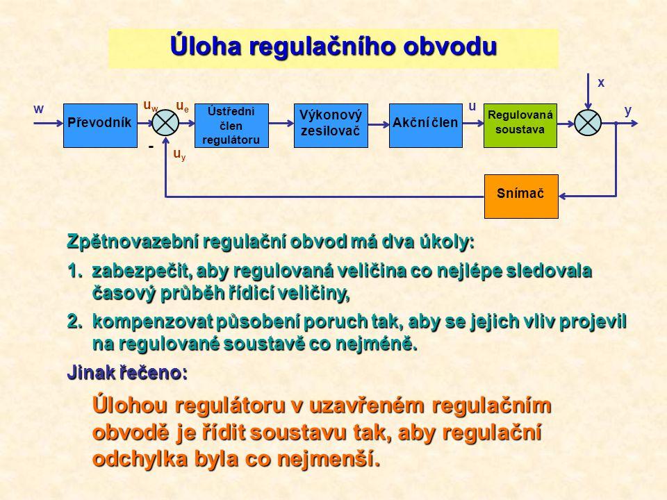 Úloha regulačního obvodu
