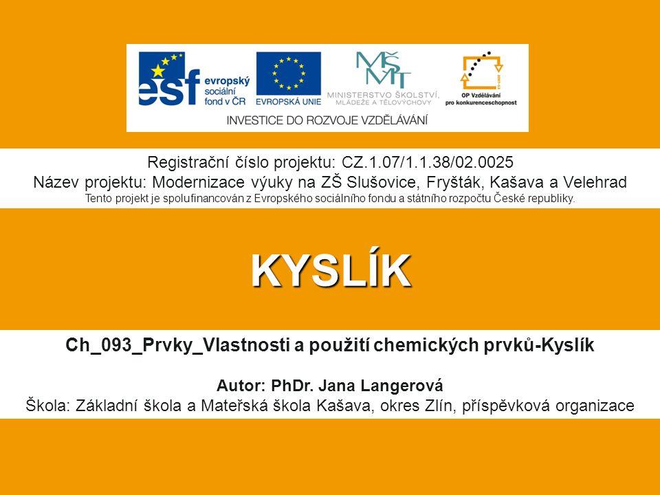Ch_093_Prvky_Vlastnosti a použití chemických prvků-Kyslík
