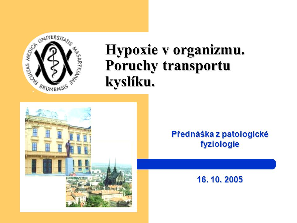 Hypoxie v organizmu. Poruchy transportu kyslíku.