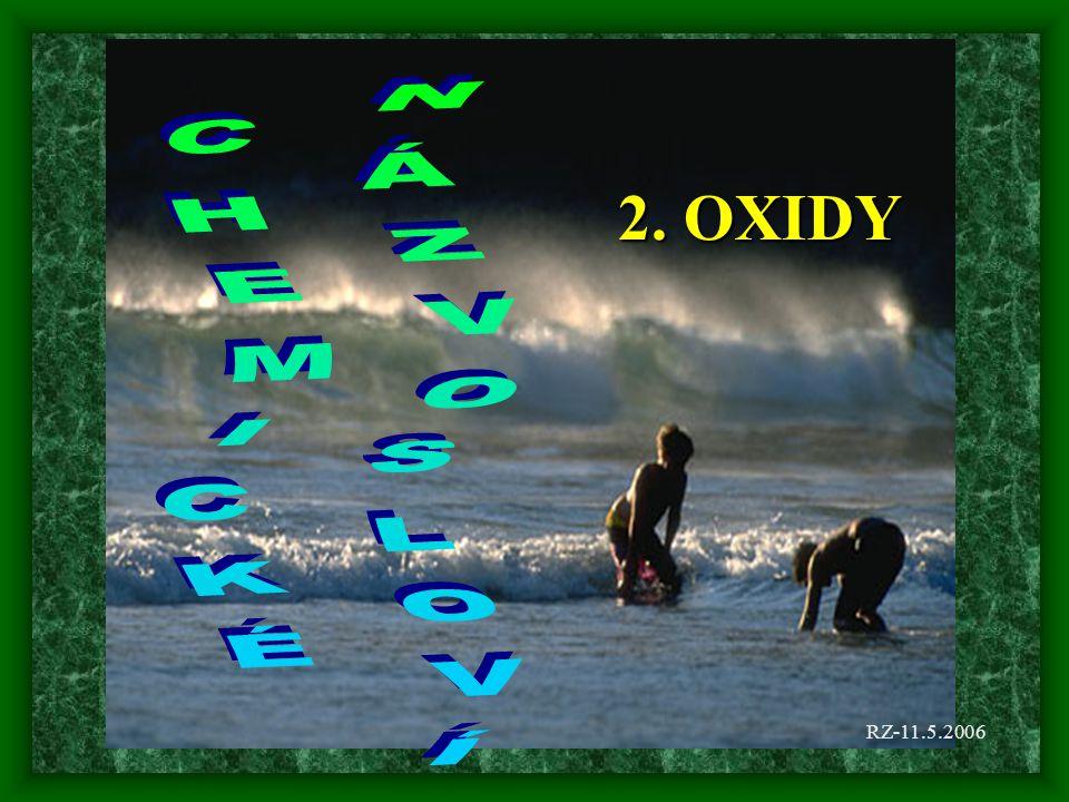 2. OXIDY CHEMICKÉ NÁZVOSLOVÍ RZ-11.5.2006