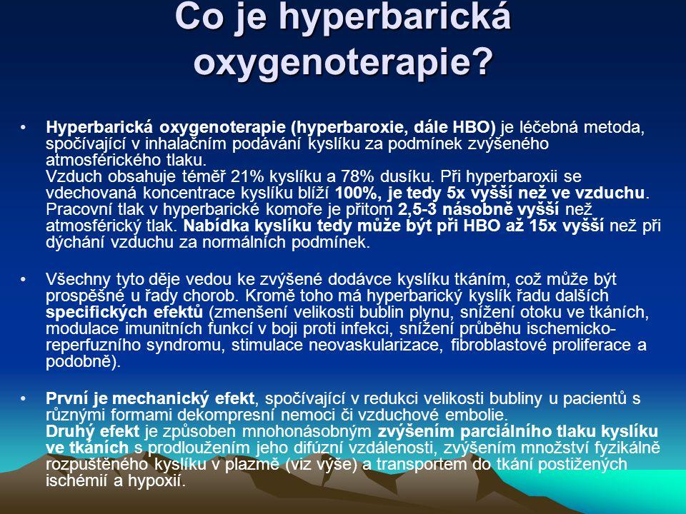Co je hyperbarická oxygenoterapie