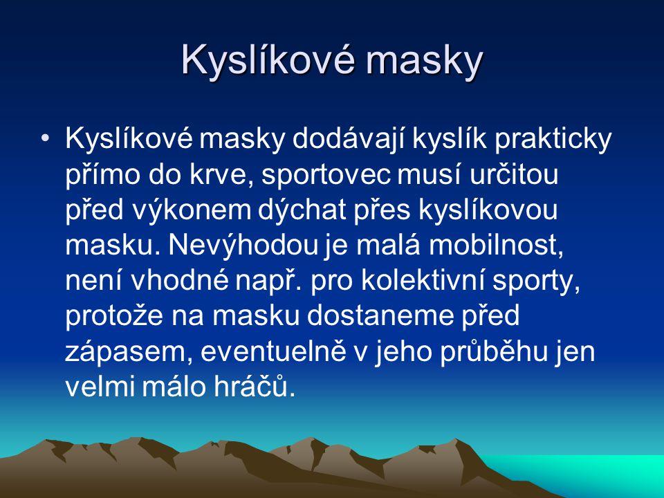 Kyslíkové masky