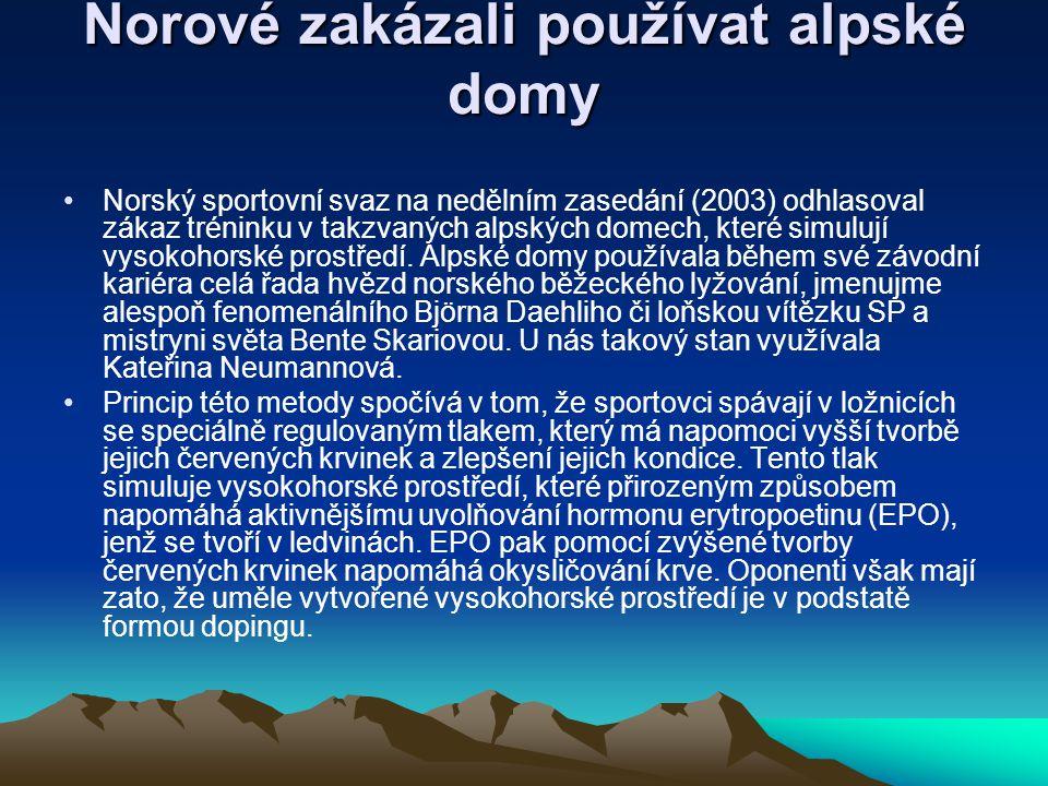 Norové zakázali používat alpské domy