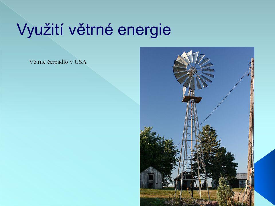 Využití větrné energie