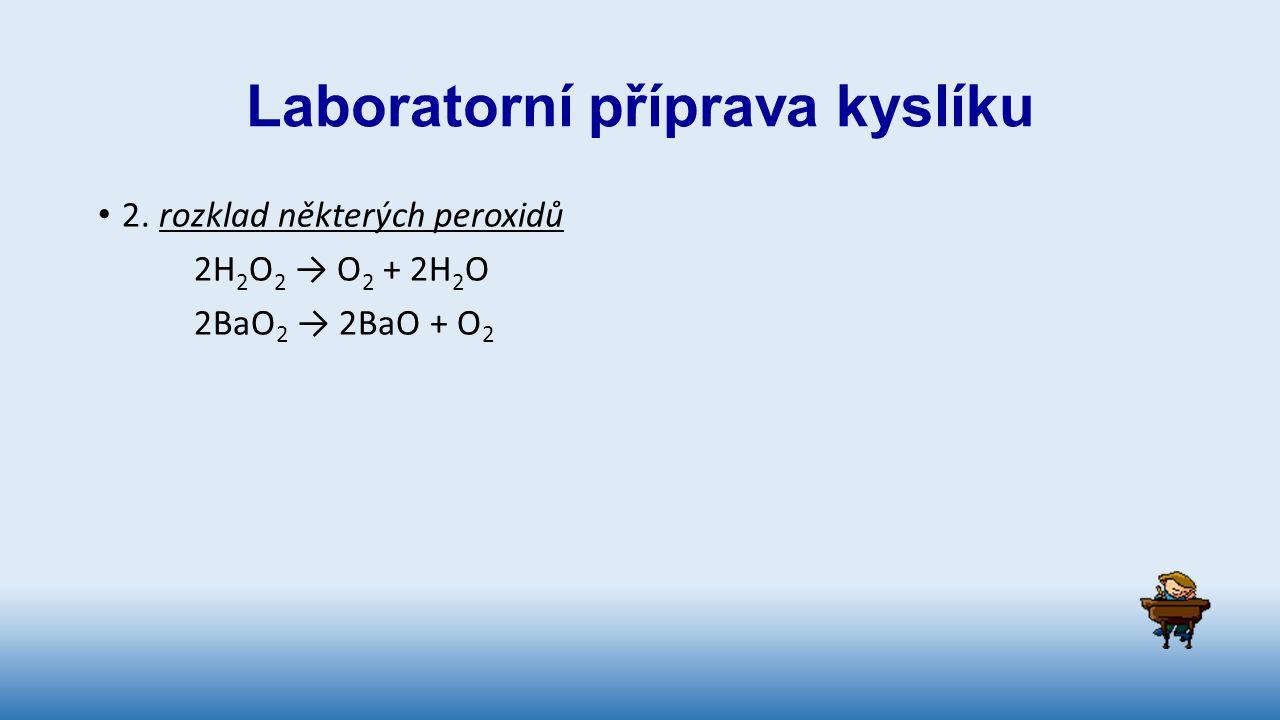 Laboratorní příprava kyslíku