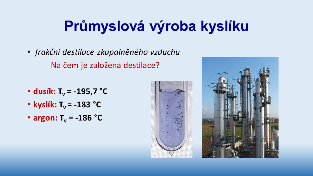 Průmyslová výroba kyslíku