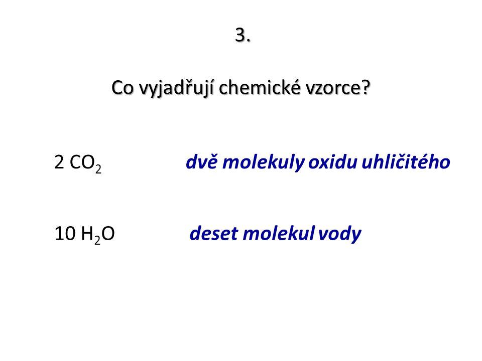 Co vyjadřují chemické vzorce