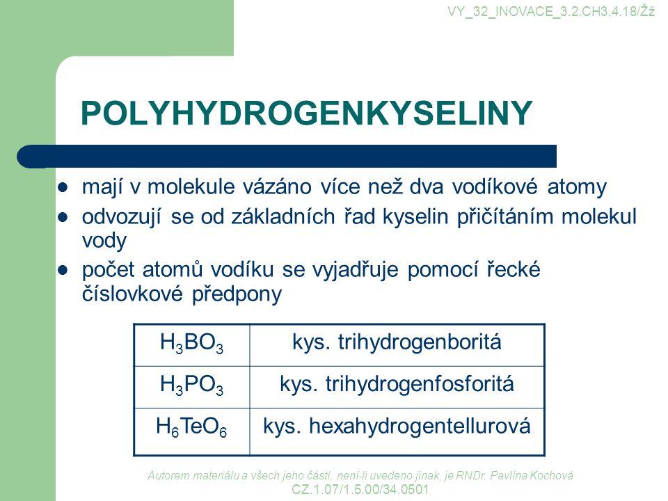 POLYHYDROGENKYSELINY