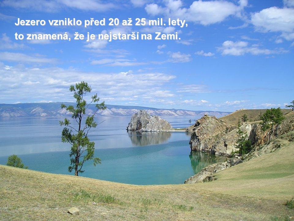 Jezero vzniklo před 20 až 25 mil. lety,