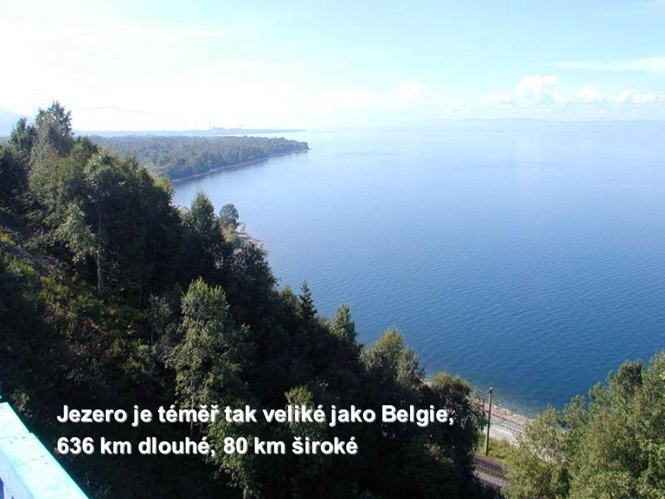 Jezero je téměř tak veliké jako Belgie,