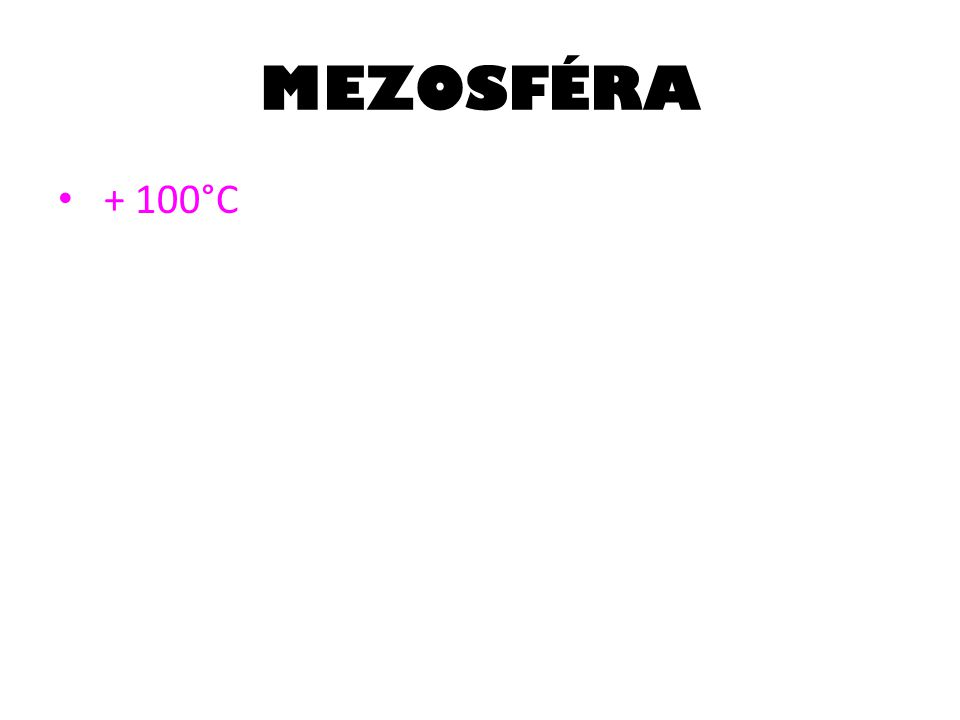 MEZOSFÉRA + 100°C