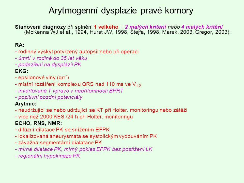 Arytmogenní dysplazie pravé komory