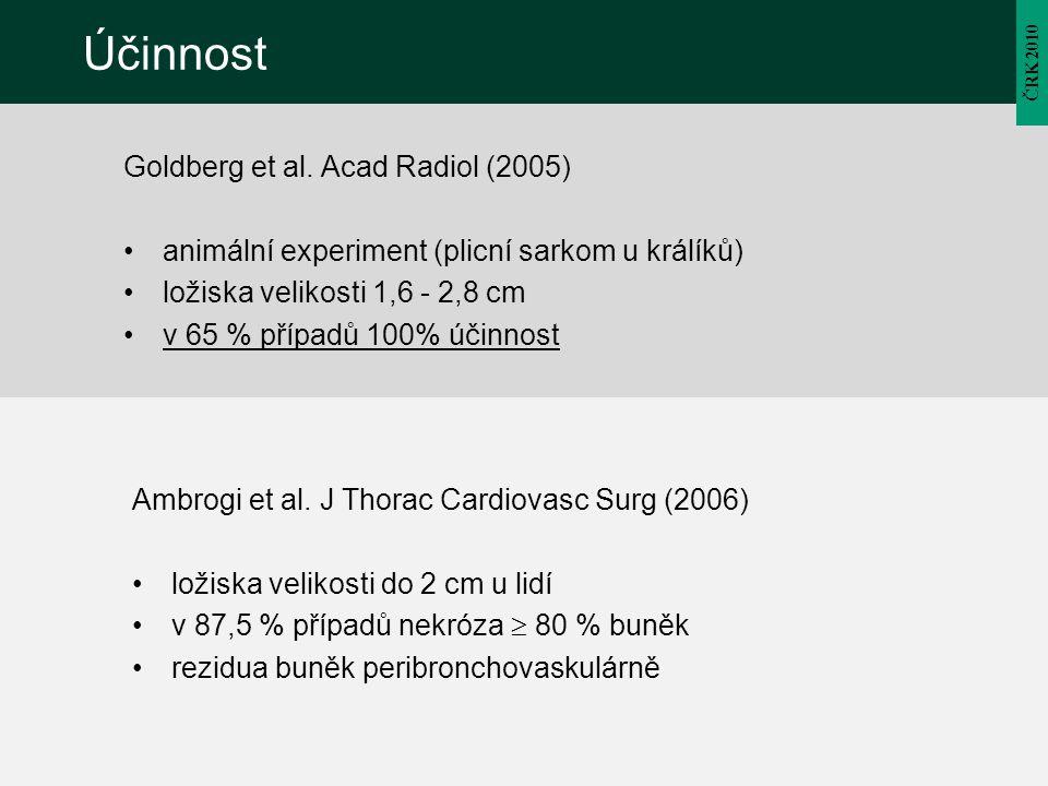 Účinnost Goldberg et al. Acad Radiol (2005)
