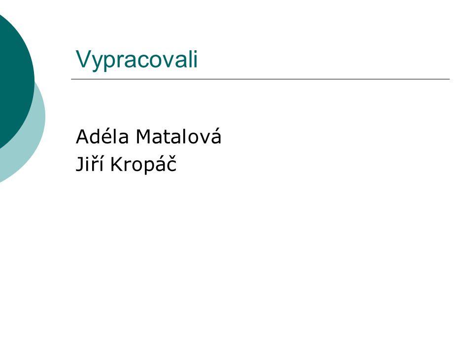 Vypracovali Adéla Matalová Jiří Kropáč