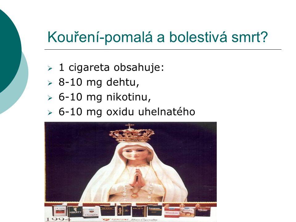 Kouření-pomalá a bolestivá smrt