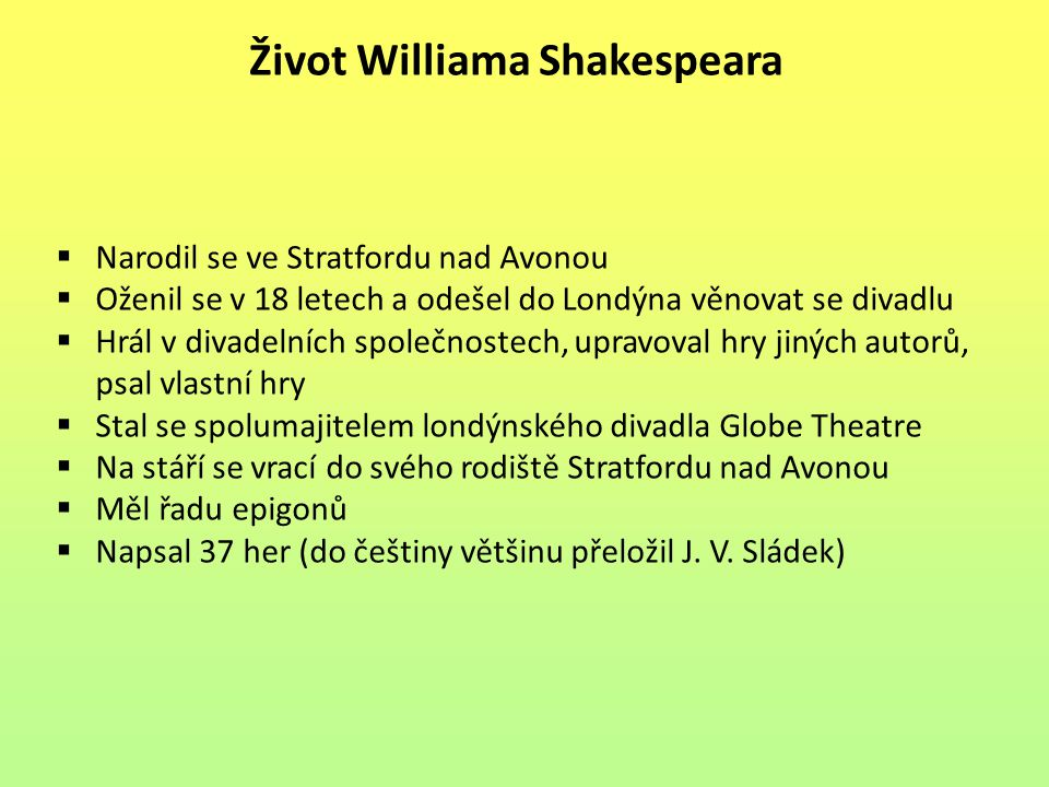 Život Williama Shakespeara