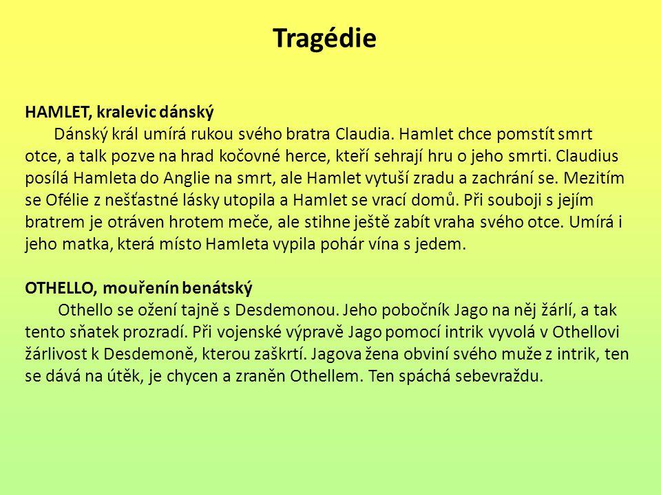 Tragédie HAMLET, kralevic dánský