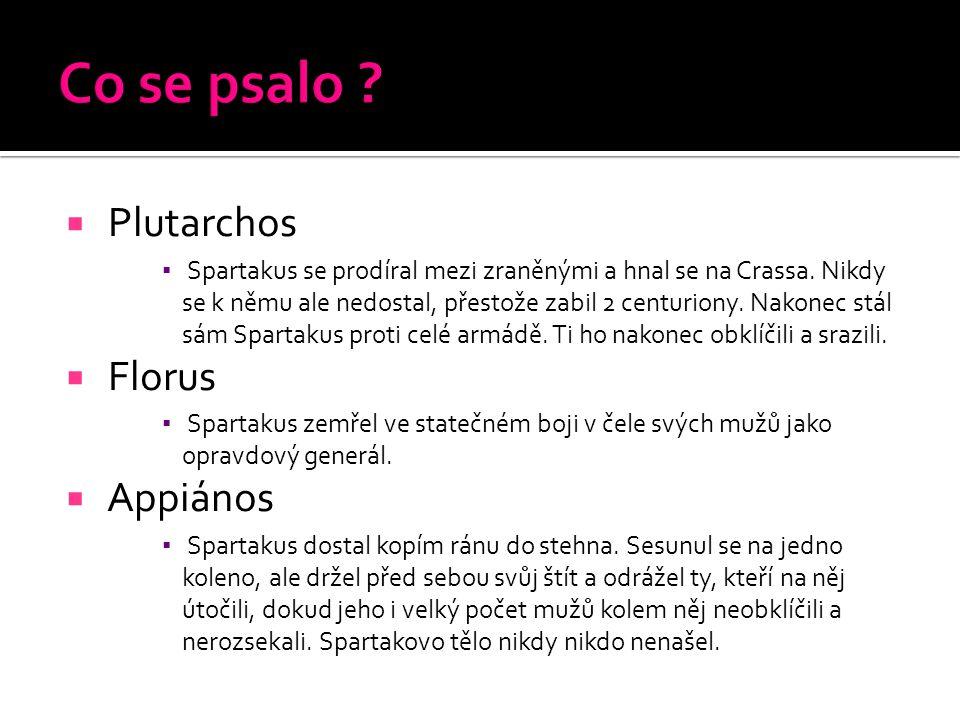 Co se psalo Plutarchos Florus Appiános