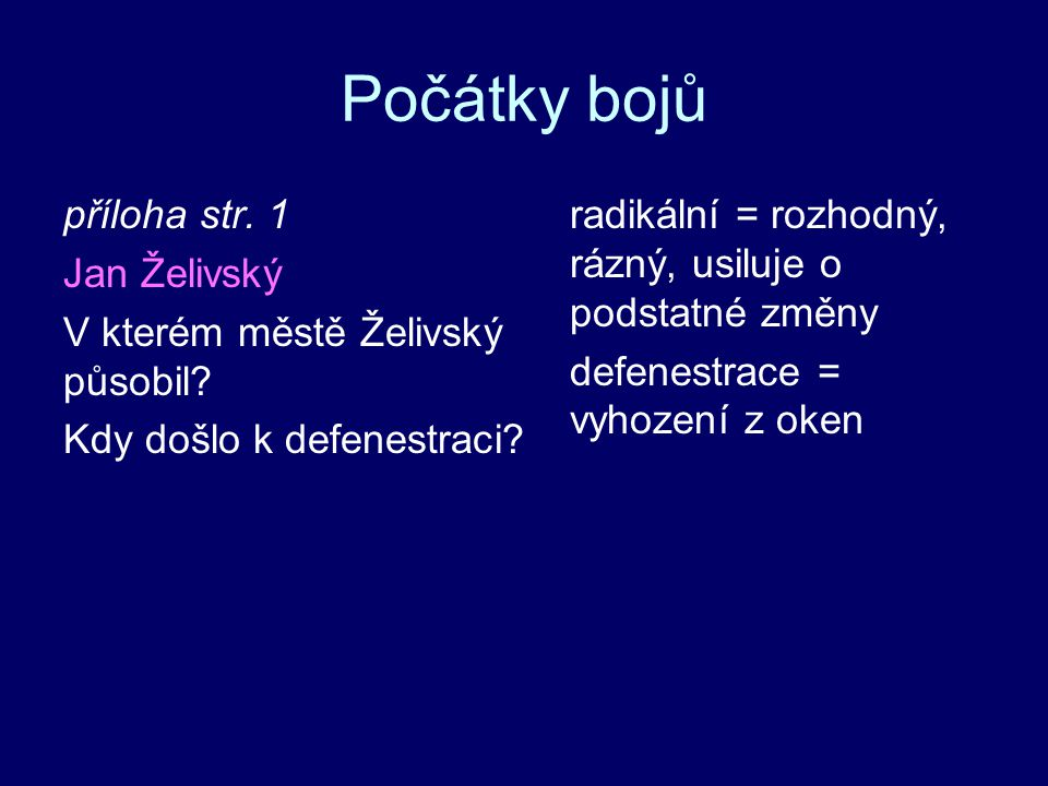 Počátky bojů příloha str. 1 Jan Želivský