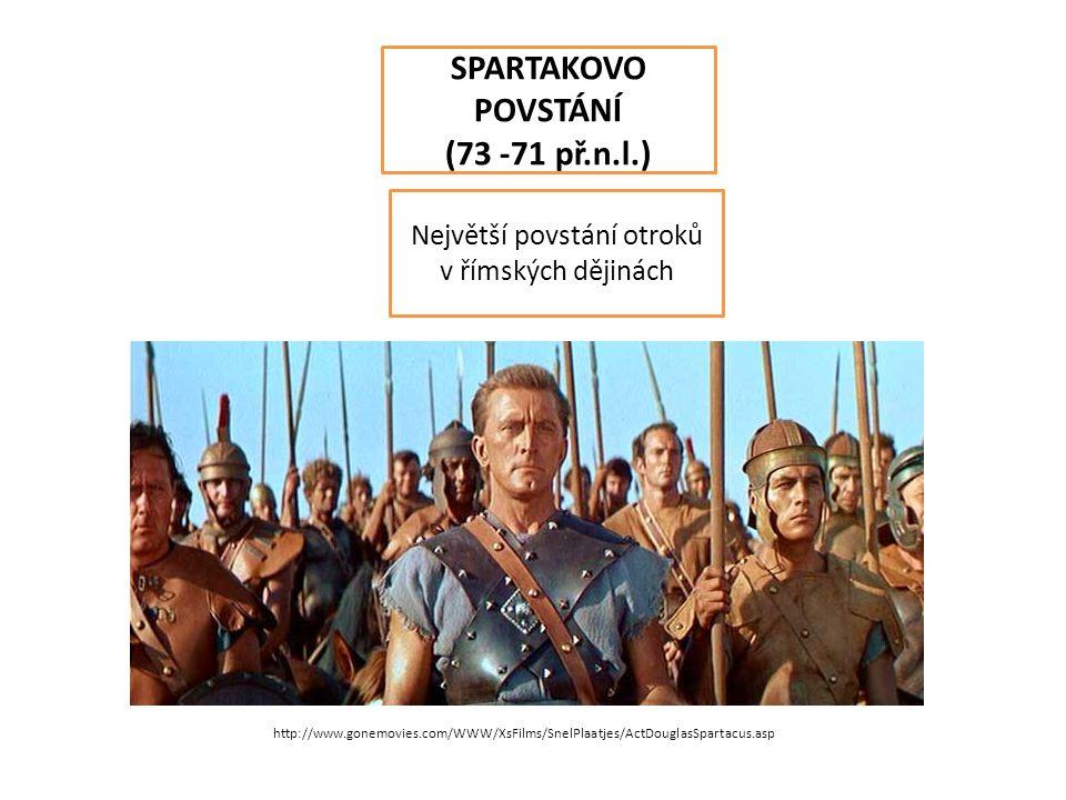 Největší povstání otroků v římských dějinách