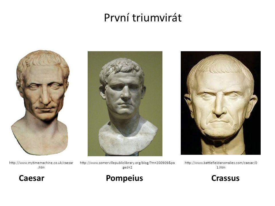 První triumvirát Caesar Pompeius Crassus