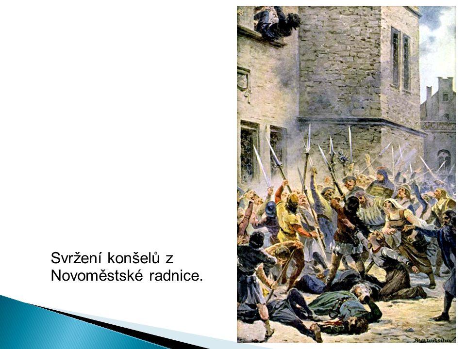 Svržení konšelů z Novoměstské radnice.