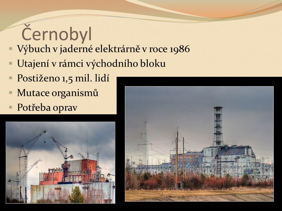 Černobyl Výbuch v jaderné elektrárně v roce 1986