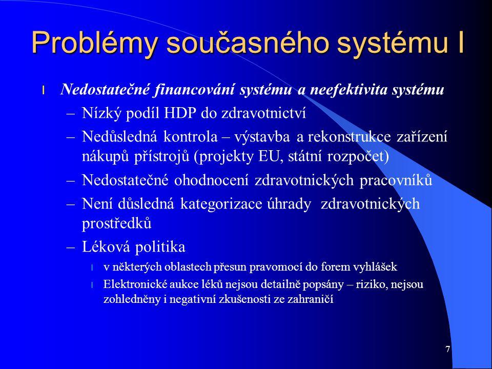 Problémy současného systému I