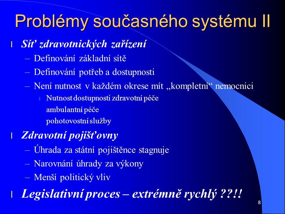 Problémy současného systému II