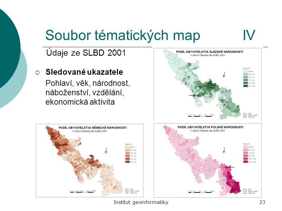 Soubor tématických map IV
