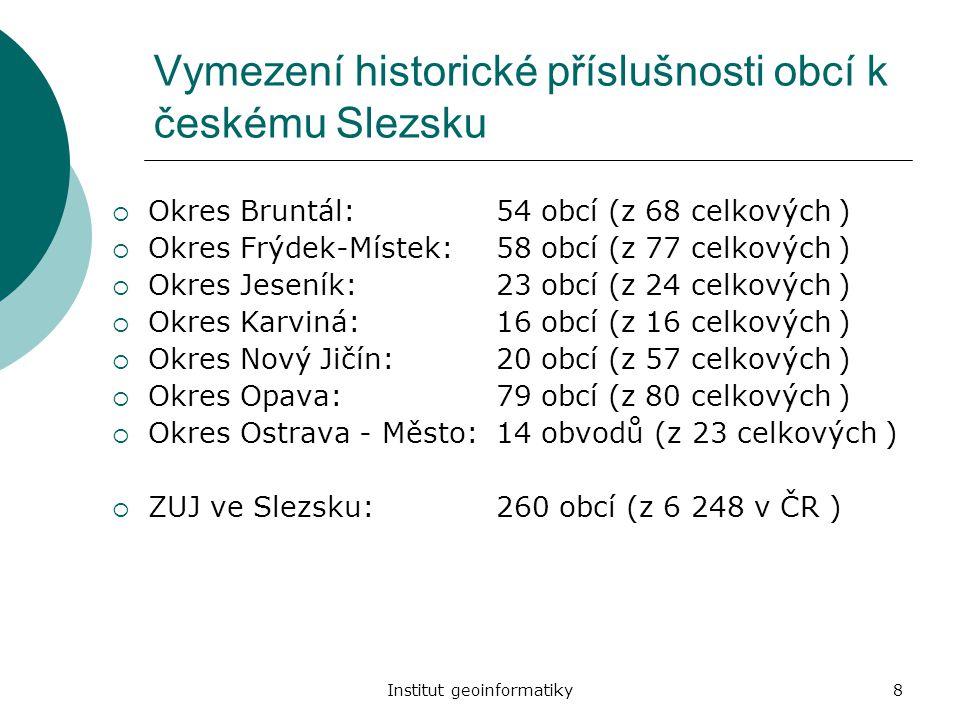 Vymezení historické příslušnosti obcí k českému Slezsku