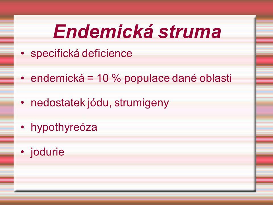 Endemická struma specifická deficience