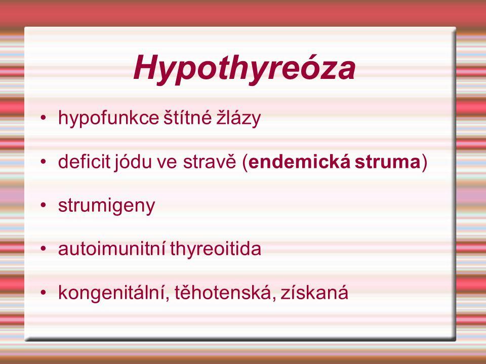 Hypothyreóza hypofunkce štítné žlázy