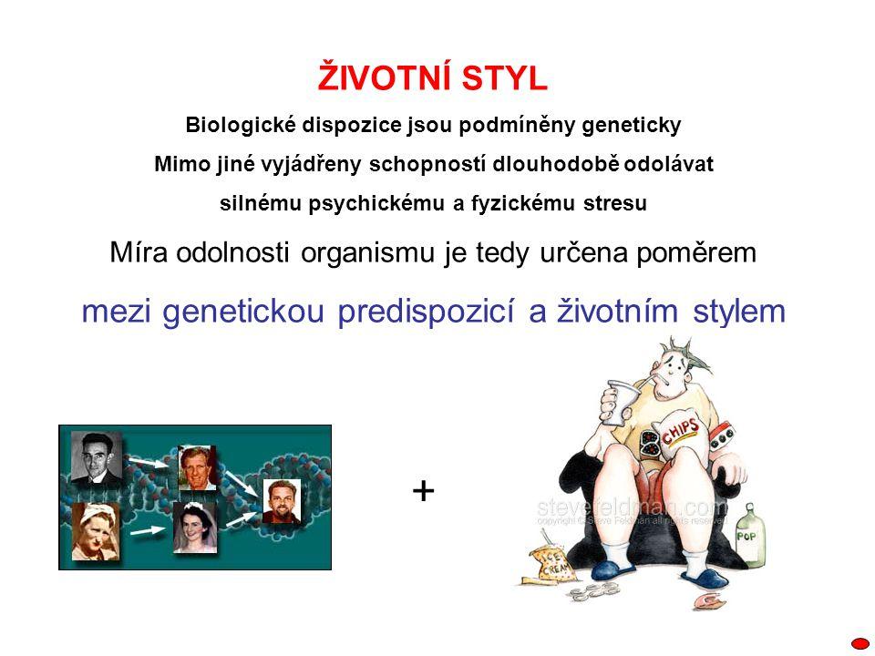 + ŽIVOTNÍ STYL mezi genetickou predispozicí a životním stylem