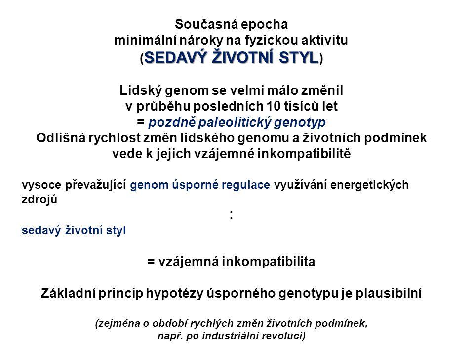 minimální nároky na fyzickou aktivitu (SEDAVÝ ŽIVOTNÍ STYL)