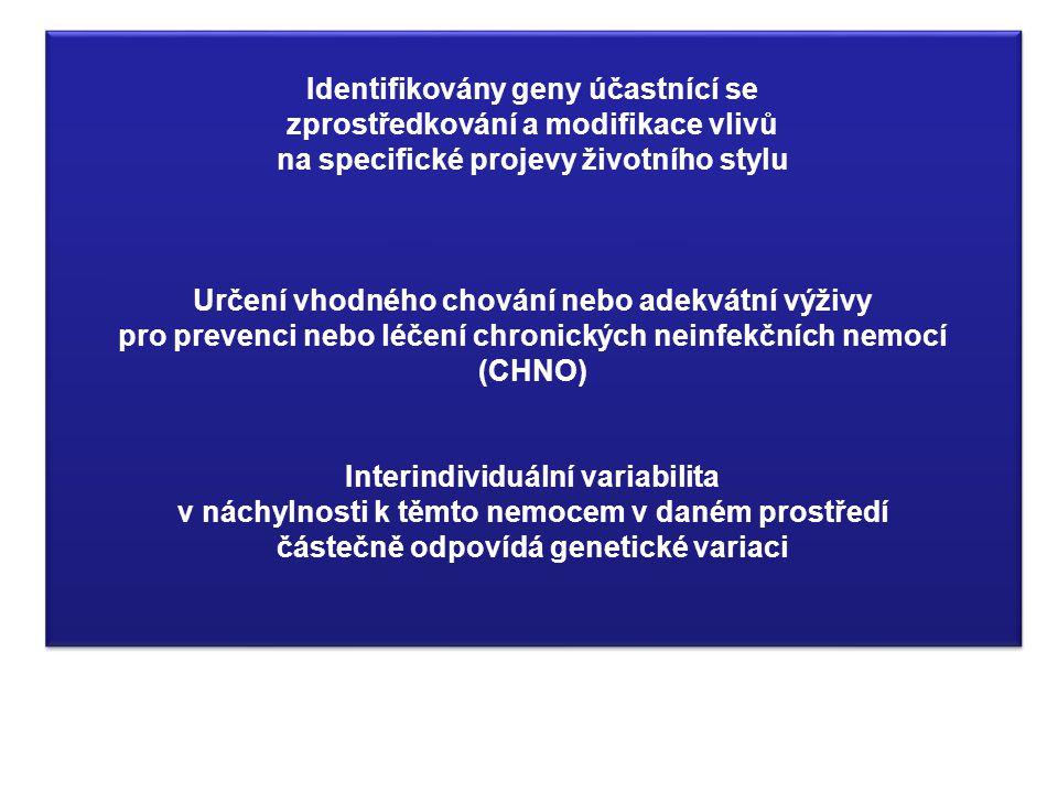 Identifikovány geny účastnící se zprostředkování a modifikace vlivů