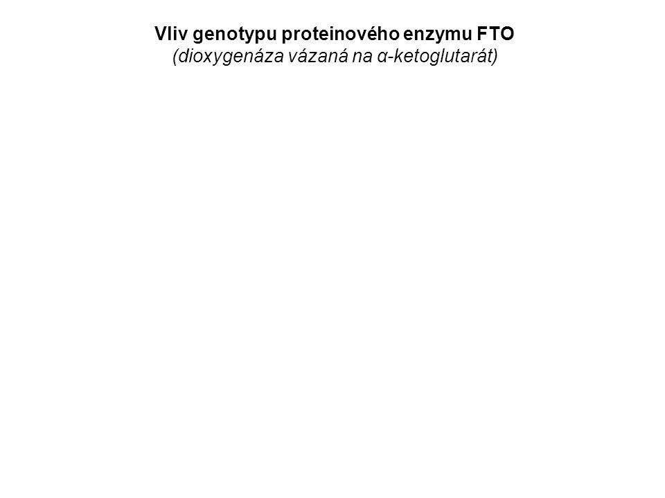 Vliv genotypu proteinového enzymu FTO