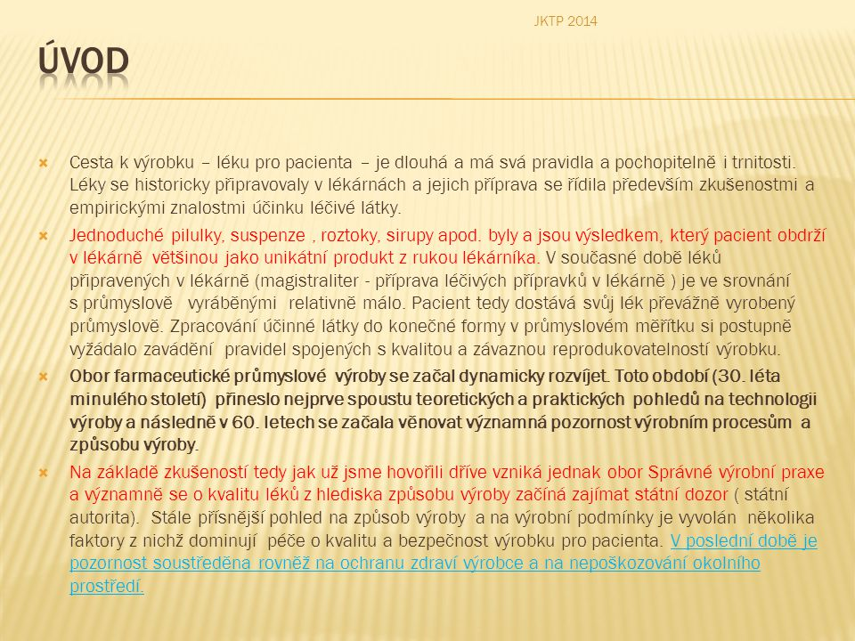 JKTP 2014 Úvod.