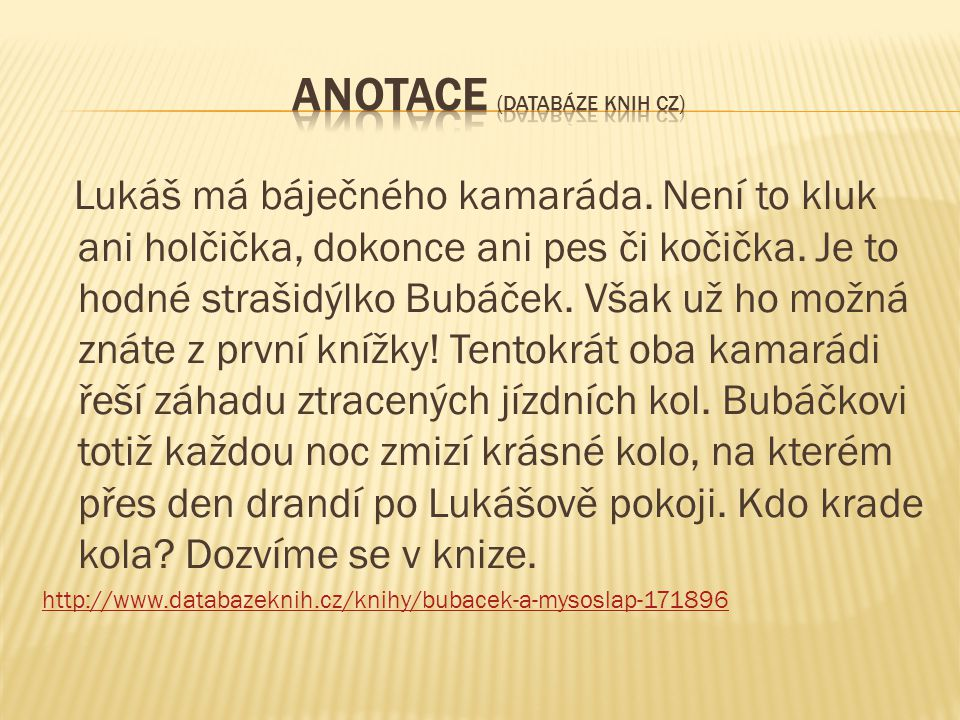 Anotace (Databáze knih cz)