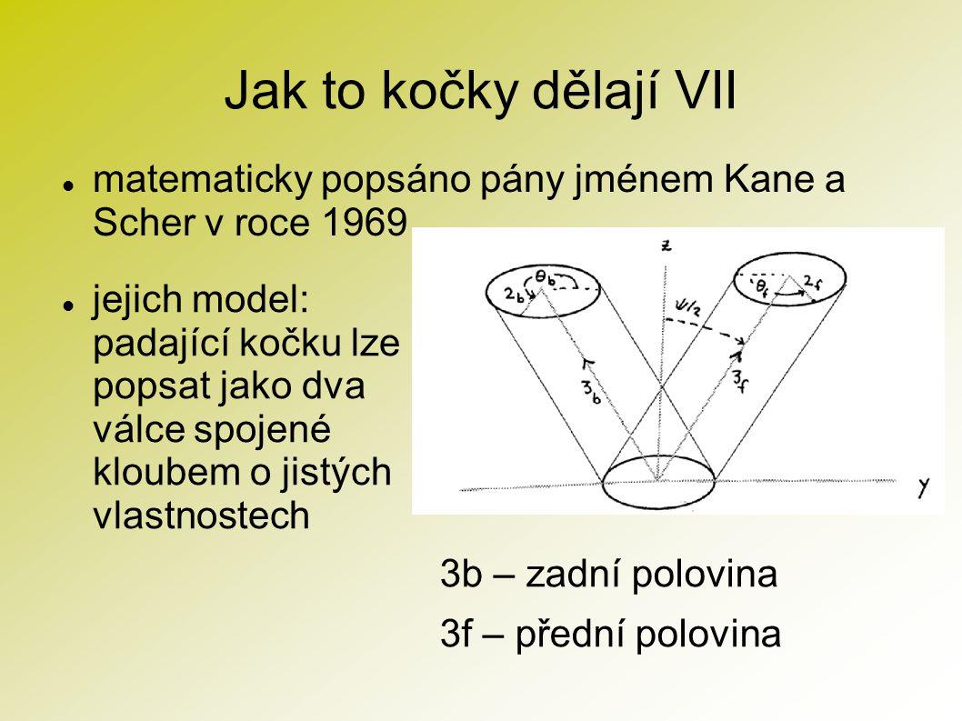 Jak to kočky dělají VII matematicky popsáno pány jménem Kane a Scher v roce 1969.