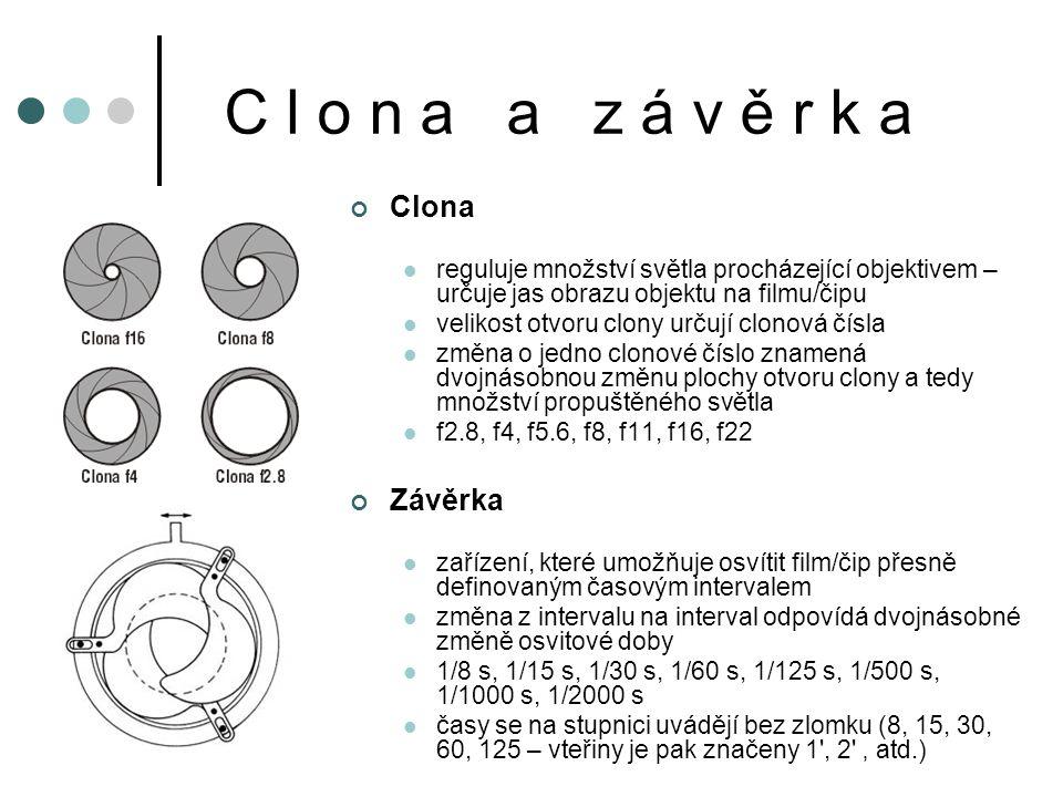 C l o n a a z á v ě r k a Clona Závěrka