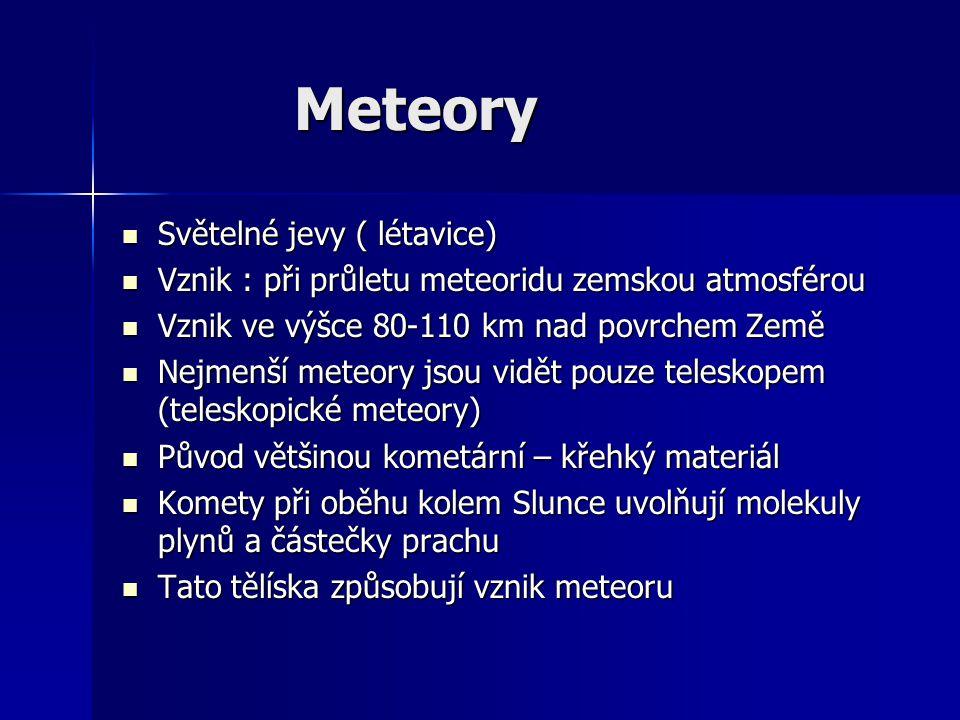Meteory Světelné jevy ( létavice)
