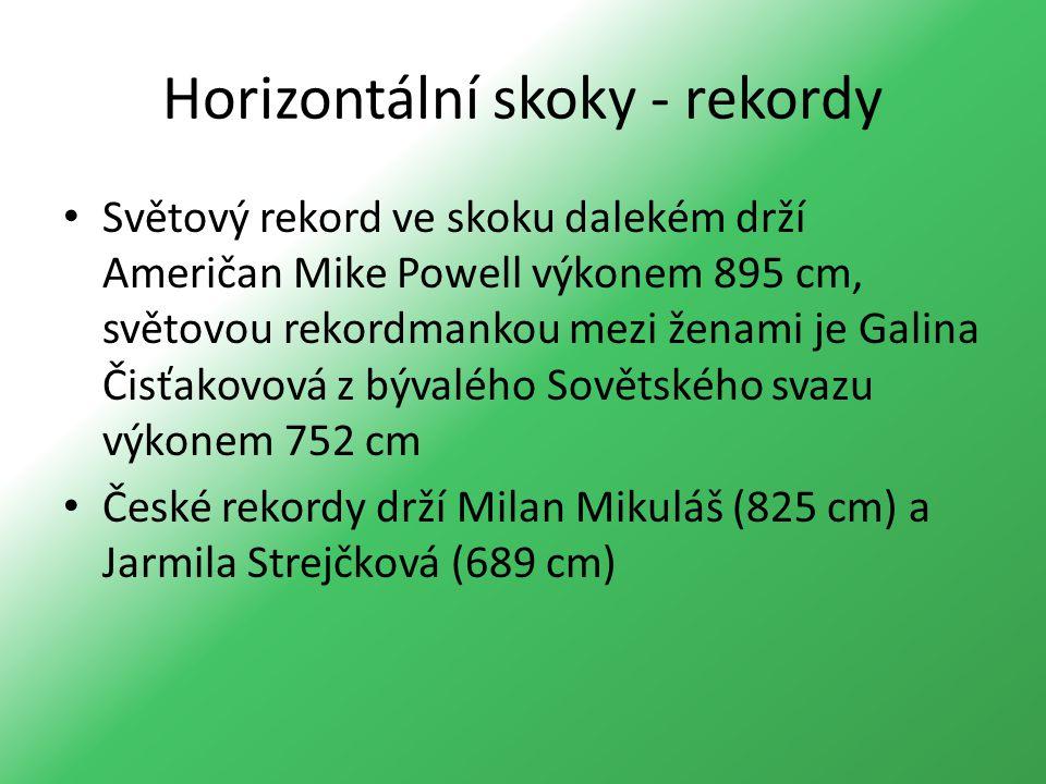 Horizontální skoky - rekordy