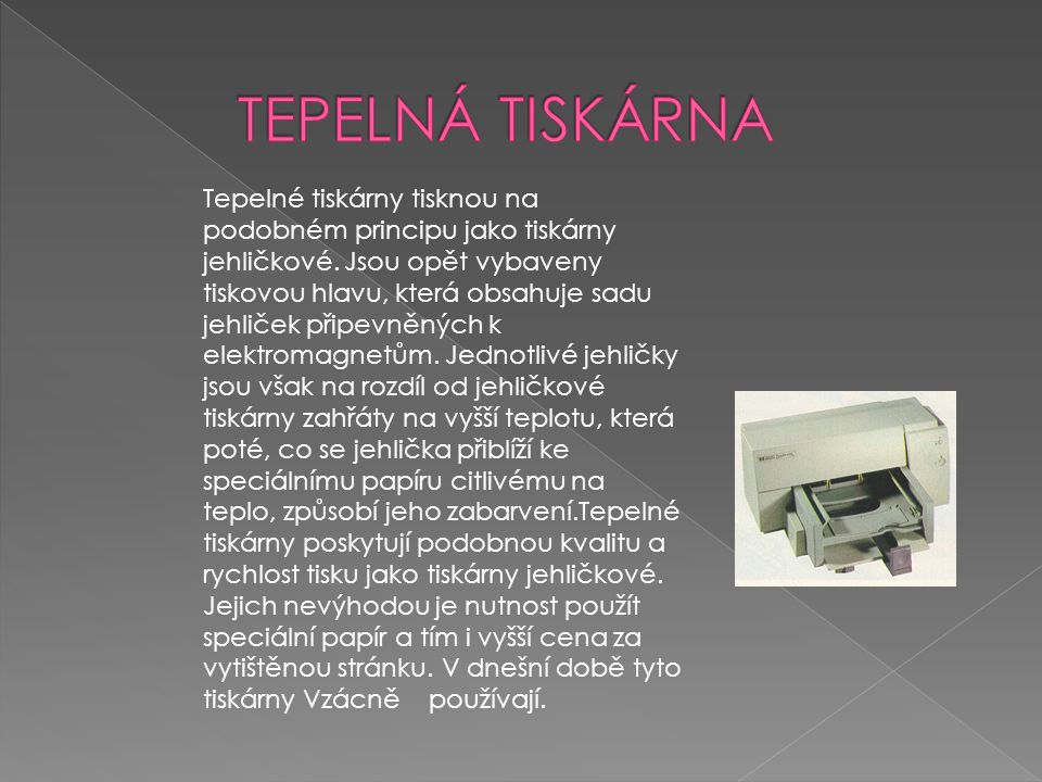 TEPELNÁ TISKÁRNA