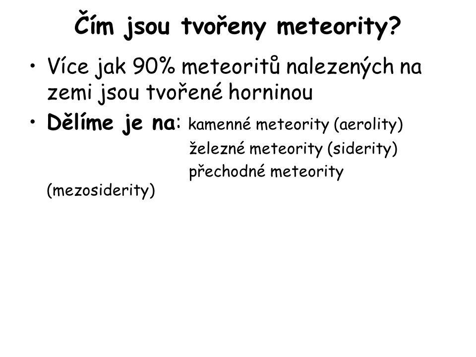 Čím jsou tvořeny meteority